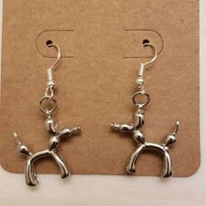 Dog balloon earrings